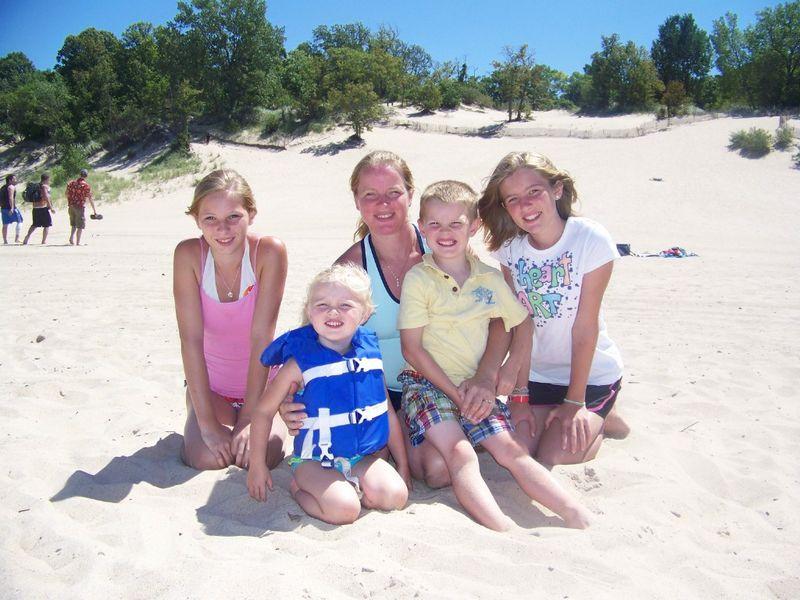 Dunes--me and kids